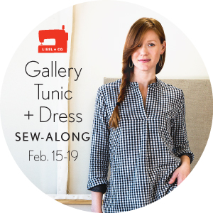 Liesl + Co. Gallery Tunic + Dress sew-along