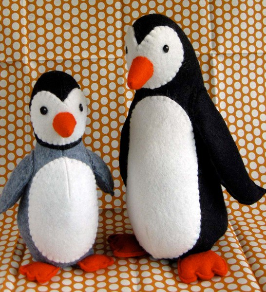 Digital Poppy And Pip Penguins Sewing Pattern