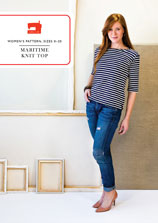 digital maritime knit top sewing pattern