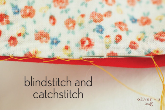Blindstitch and catchstitch