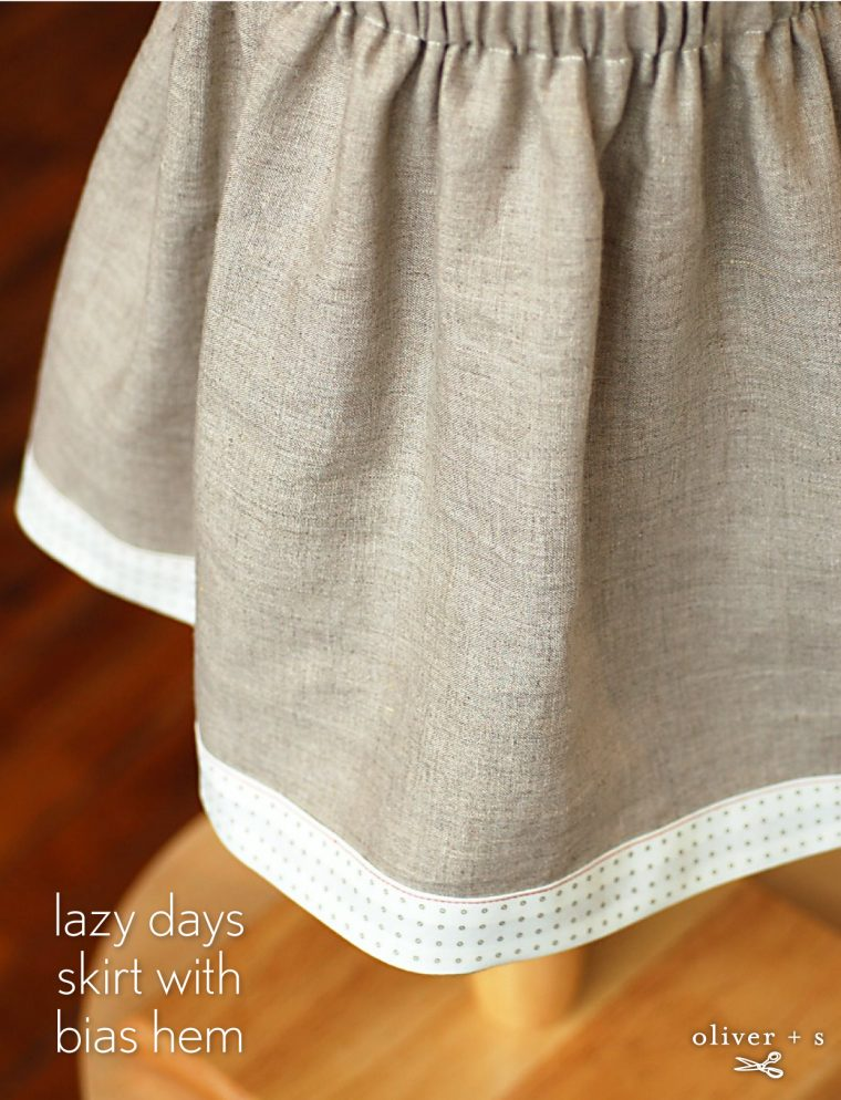Oliver + S Lazy Days skirt with bias hem