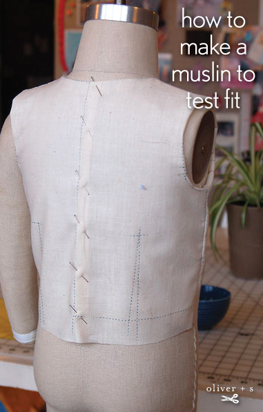 How to make a muslin to test fit