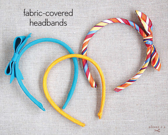Fabric-covered headbands