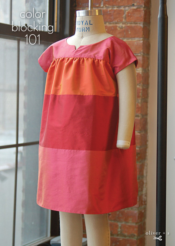 Color blocking on the Oliver + S Ice Cream Dress