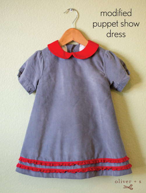 Modified Oliver + S Puppet Show Dress
