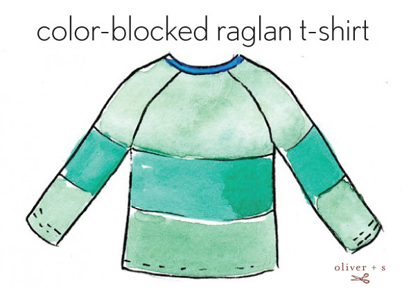 Oliver + S color blocked Field Trip Raglan T-shirt