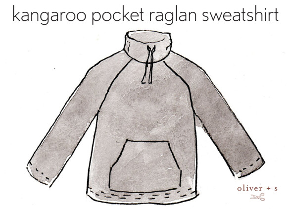Oliver + S Field Trip Raglan T-shirt as kangaroo pocket sweatshirt