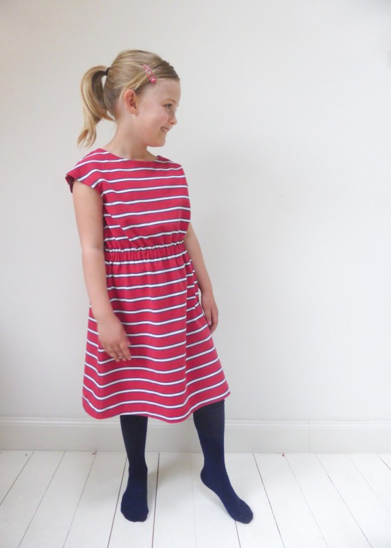 Oliver + S Roller Skate Dress in knit