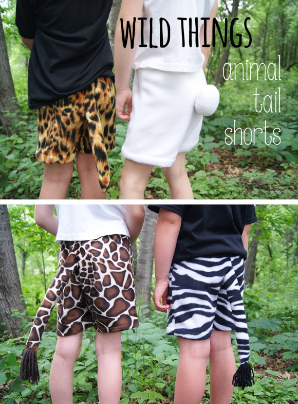 Adding animal tails to the Oliver + S Sunny Day Shorts