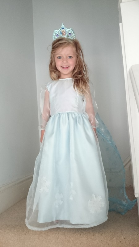 Elsa Dress made from Oliver + S Fairy Tale Dress