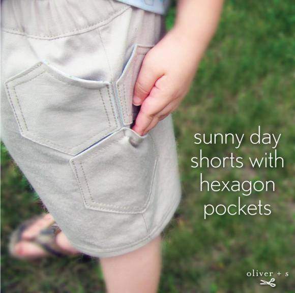 Oliver + S Sunny Day Shorts with hexagon pockets