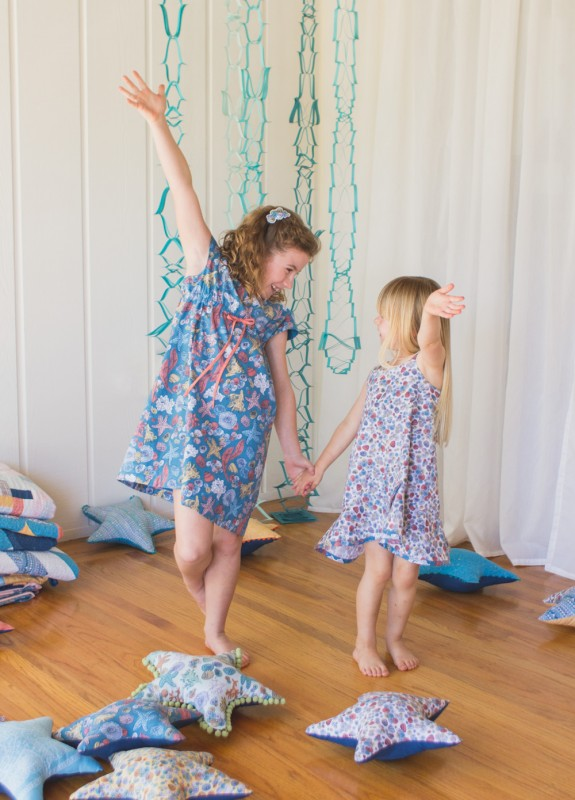 Oliver + S Roller Skate Dress and Pinwheel Slipdress