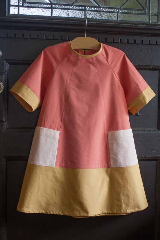 Color blocked Oliver + S Carousel Dress