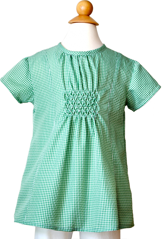 Oliver + S Hide-and-Seek Tunic with honeycomb smocking