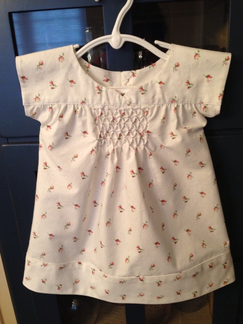 Oliver + S Ice Cream Dress with honeycomb smocking