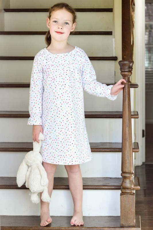 Oliver + S Class Picnic Blouse modified into a nightgown