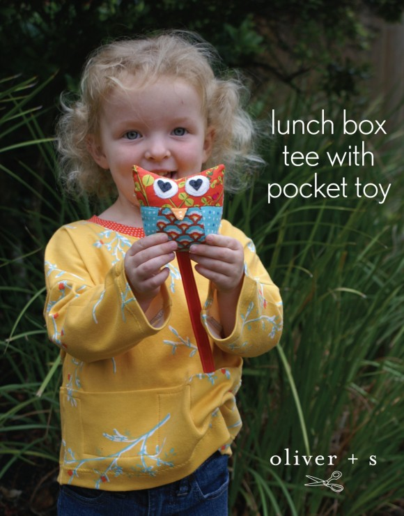Adding a pocket toy to the Oliver + S Lunch Box Tee