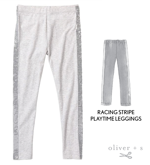 Use the Oliver + S Playtime Leggings along with the Racing Stripe tutorial to recreate the inspirational image