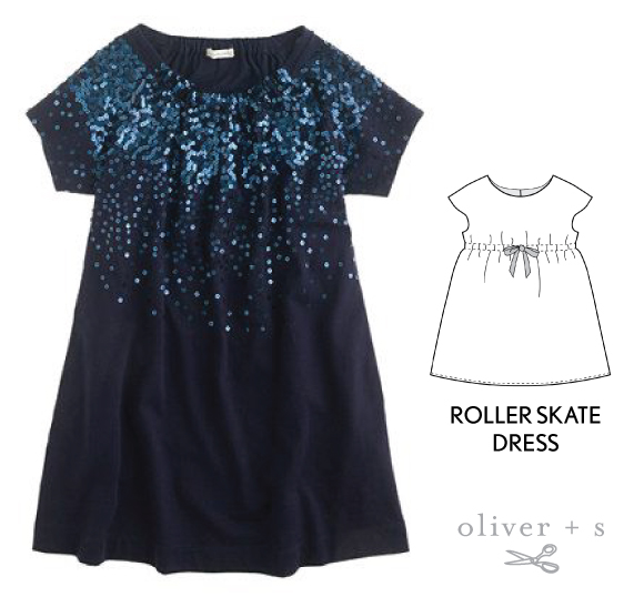 Use the Oliver + S Roller Skate Dress to recreate a similar look to the inspirational image