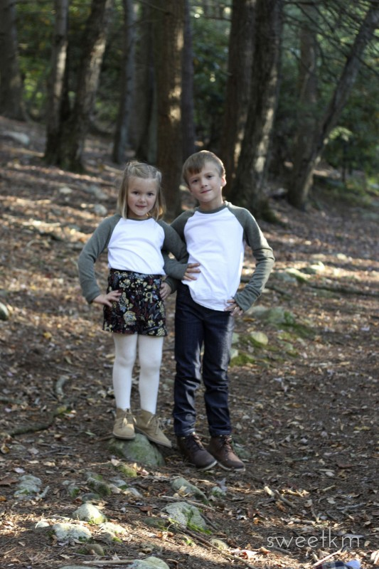 Oliver + S Field Trip Raglan T-shirts with added thumbhole cuffs