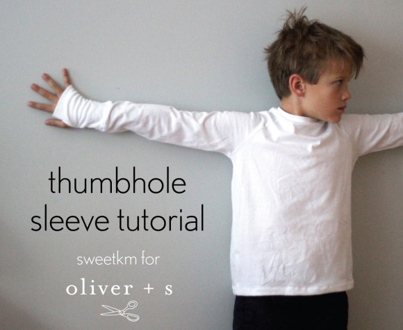 Adding thumbhole sleeves to the Oliver + S Field Trip Raglan T-shirt