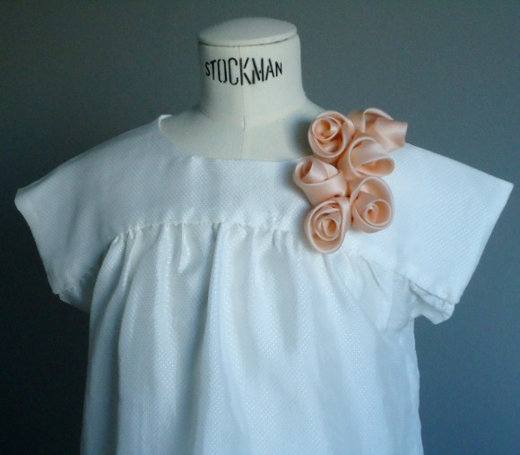 Dior roses on the Oliver + S Ice Cream Blouse
