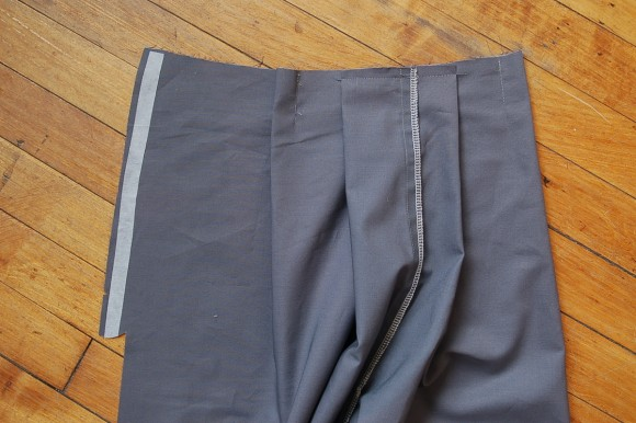 Making the pleats for the Girl Friday/Lunch Box Culottes