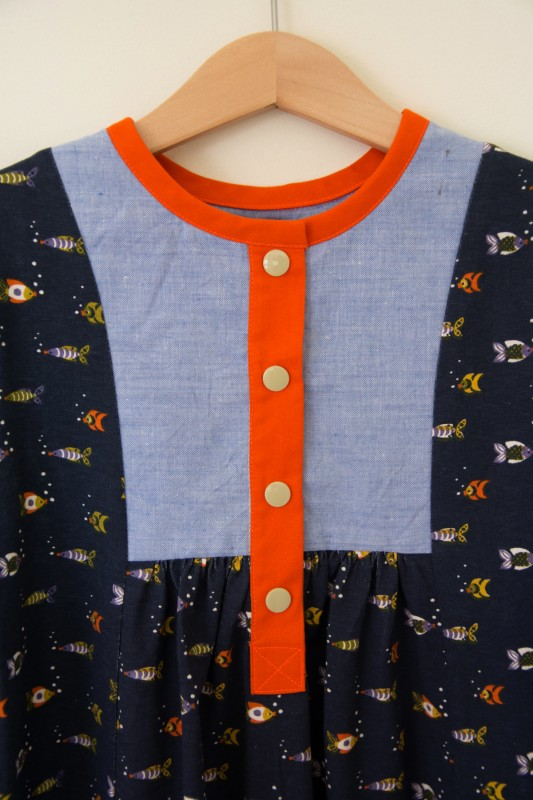 Oliver + S Hide-and-Seek Dress with front placket