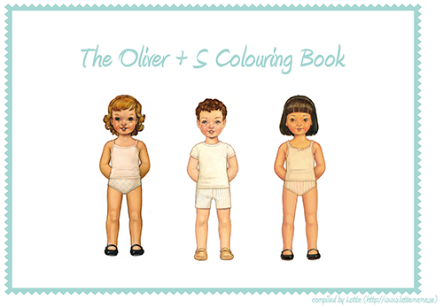 Oliver + S coloring book