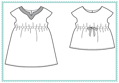 Roller Skate Dress + Tunic in the Oliver + S coloring book