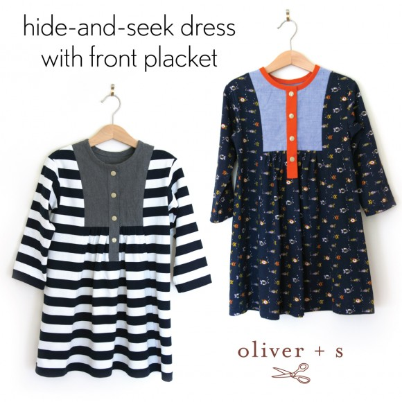 Oliver + S Hide-and-Seek dresses with front placket