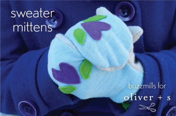 little things to sew upcycled sweater mitten tutorial