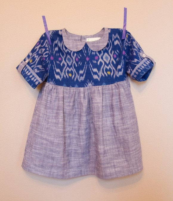 Oliver + S Playtime Tunic with Hide-and-Seek Dress sleeves and Jump Rope Dress sleeve tabs