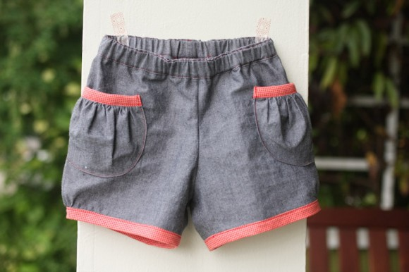 Oliver + S Puppet Show Shorts in chambray