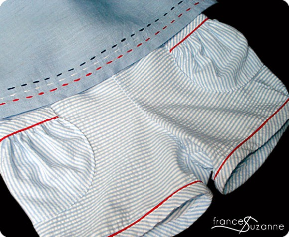Oliver + S Puppet Show Shorts in stripes