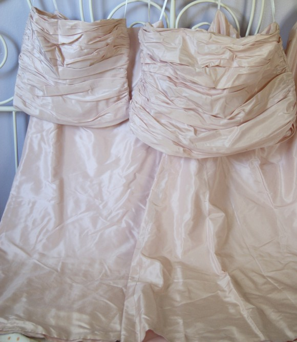 Bridesmaid dress to be upcycled into an Oliver + S Fairy Tale Dress