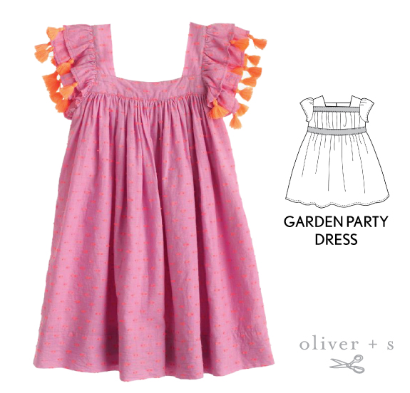 Add some tassel trim to the sleeves of the Oliver + S Garden Party Dress