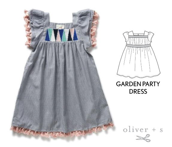 Add tassel trim to the Oliver + S Garden Party Dress