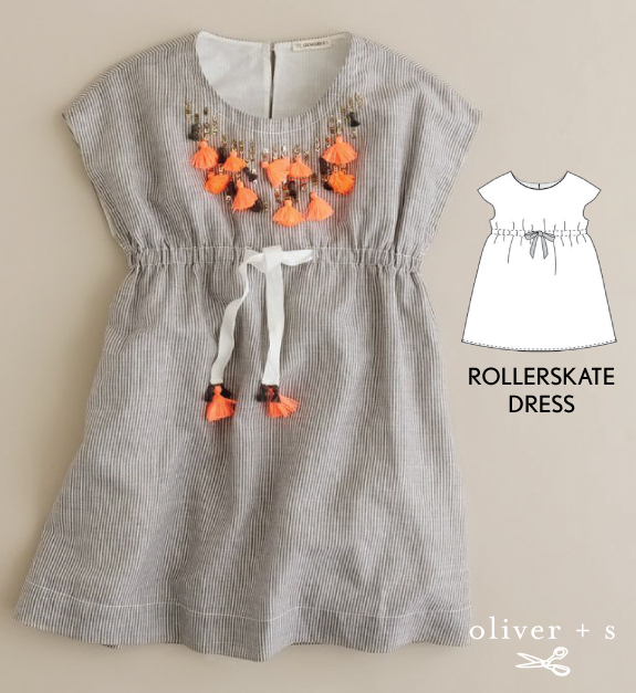 Add some tassels to the Oliver + S Roller Skate Dress