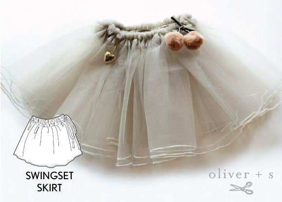 Add some pom poms to the Oliver + S Swingset Skirt
