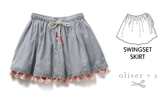Add tassel trim to the Oliver + S Swingset Skirt