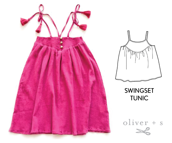 Add tassels to the end of tie straps on the Oliver + S Swingset Tunic