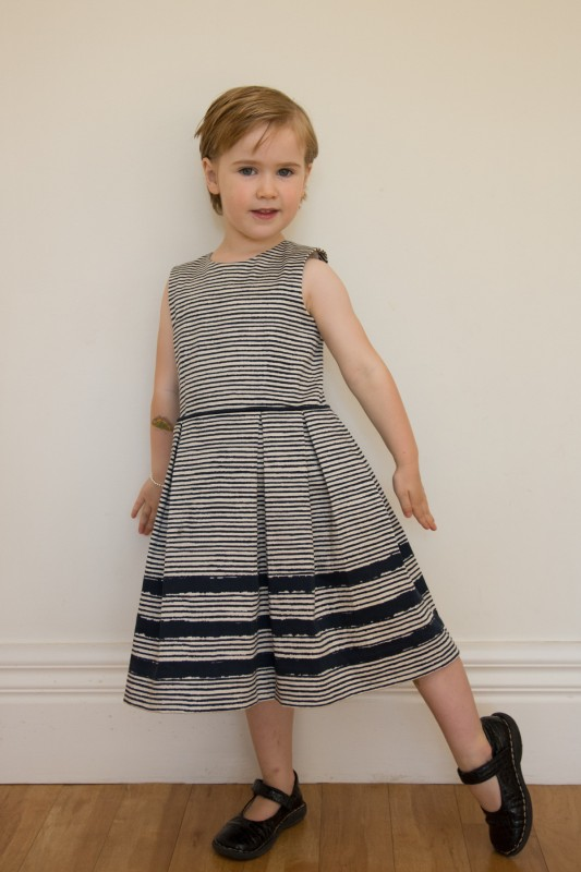 Oliver + S Fairy Tale Dress with box pleated skirt