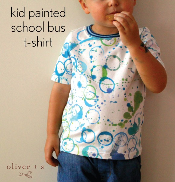 Painted Oliver + S School Bus T-shirt