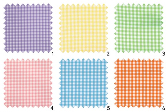 Gingham fabric swatches