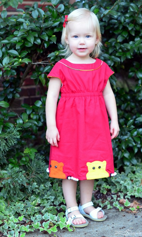 Oliver + S Roller Skate Dress with hippos
