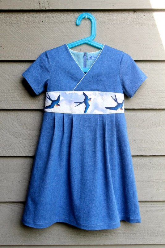 Oliver + S Library Dress with painted birds