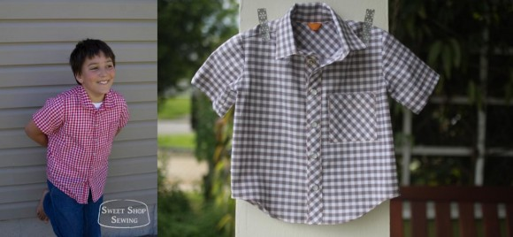 Oliver + S Sketchbook Shirts in gingham