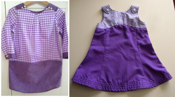 Oliver + S patterns in purple gingham
