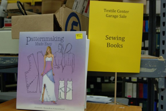 Sewing book at the world's largest textile garage sale